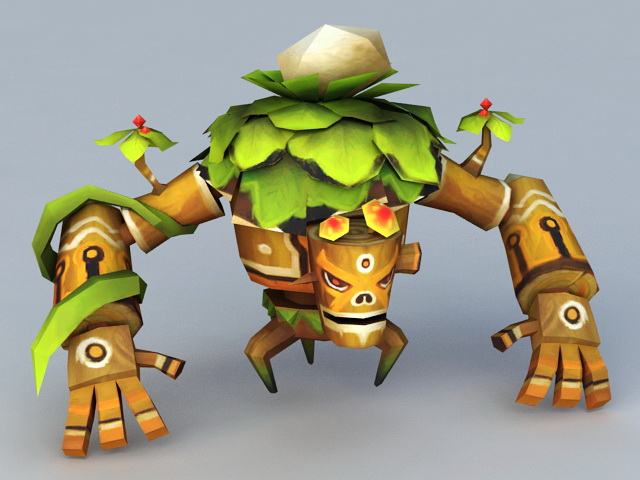 Treant Cartoon Monster 3d model