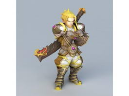 Dragon Nest Warrior Barnak 3d model