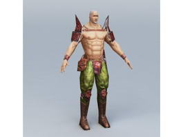 Japanese Male Warrior 3d model