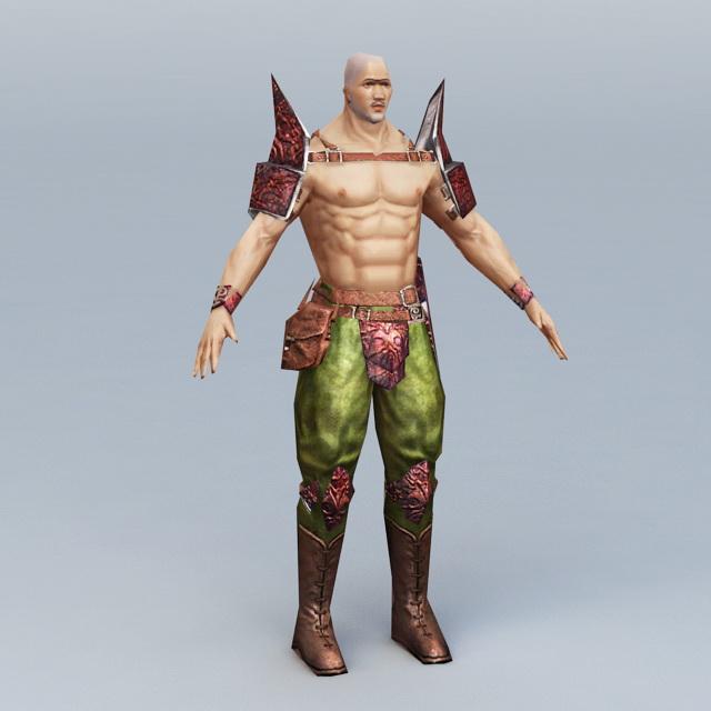 Japanese Male Warrior 3d model
