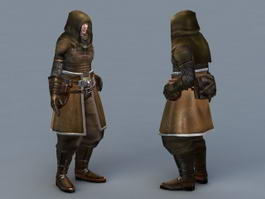Hooded Assassin 3d model