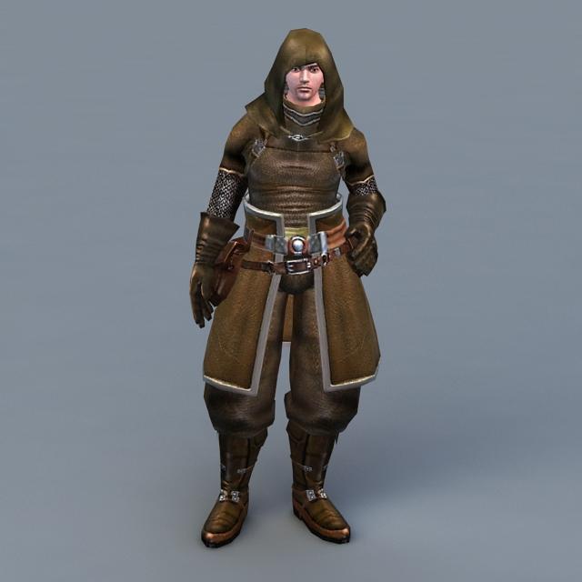Hooded Assassin 3d model