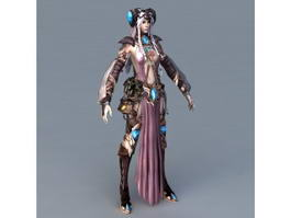 Female Human Warlock 3d model