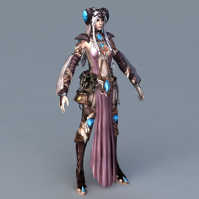 Female Human Warlock 3d model