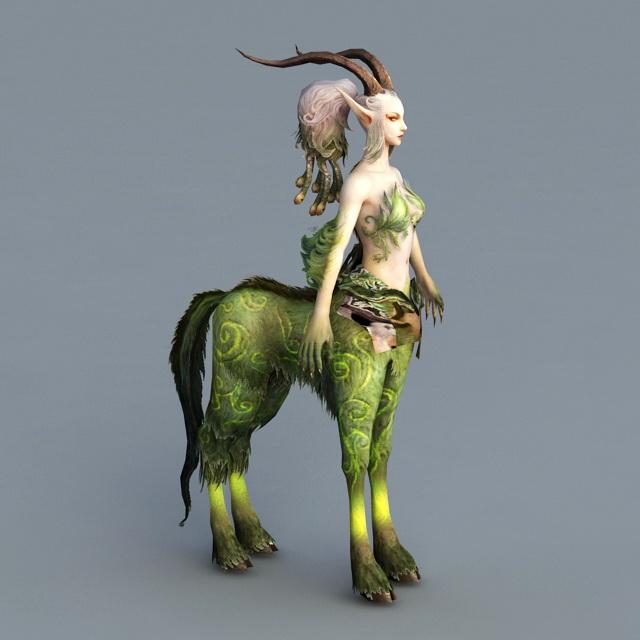 Female Antelope Centaur 3d Model 3ds Max Files Free