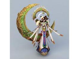Chinese Myths Moon Goddess 3d model