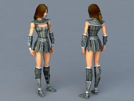 Celtic Women Warrior 3d model