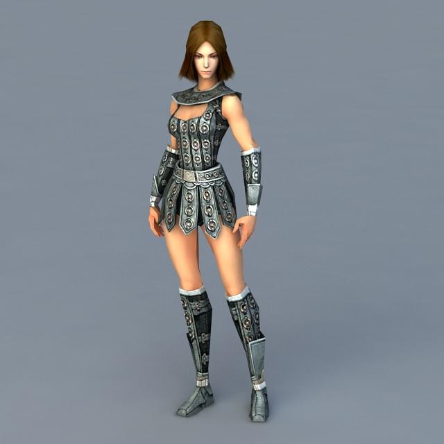 Celtic Women Warrior 3d model