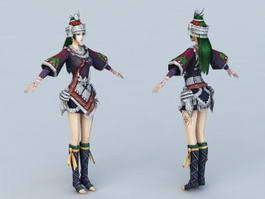 Traditional Hmong Princess 3d model