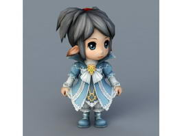Anime Elf Children 3d model