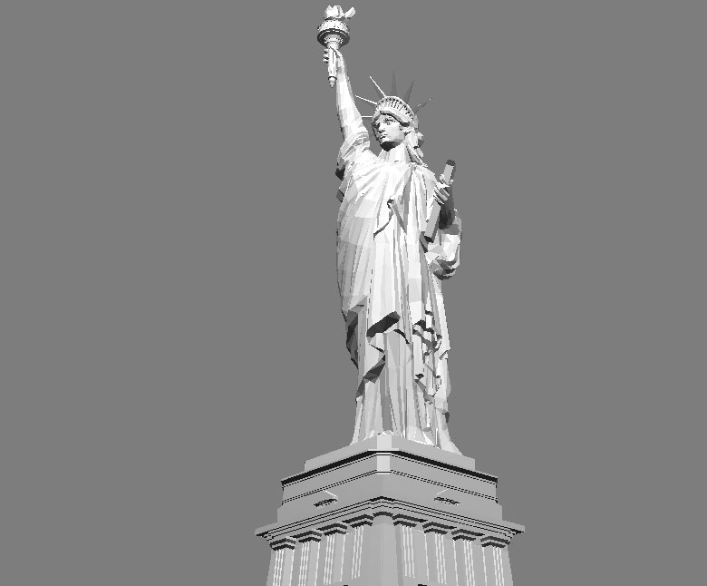 statue of liberty 3d model 3ds max files free download modeling
