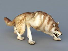 Ravenous Wolf 3d model