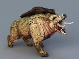 Wild Boar Beast 3d model