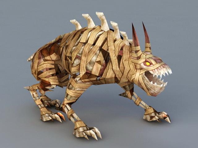 Skeleton Mummy Monster 3d Model 3ds Max Files Free