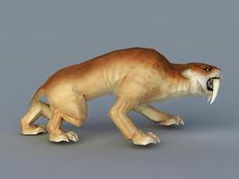 Leopard Attack 3d model