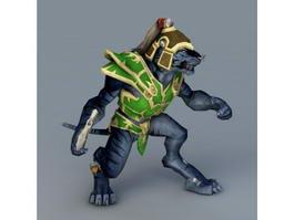 Black Tiger Warrior 3d model