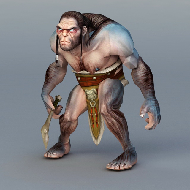Primitive Man Hunting 3d model