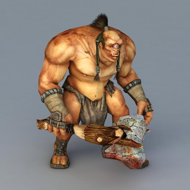Cyclops Warrior Concept 3d model