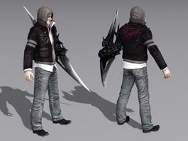 Steampunk Warrior Man 3d model