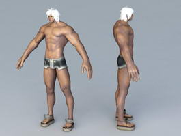 Strong Man with Swimwear 3d model