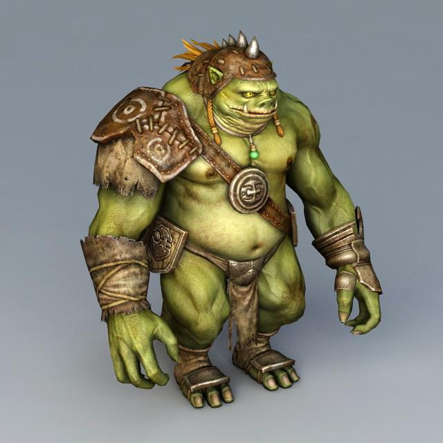 Fat Pig Orc 3d model