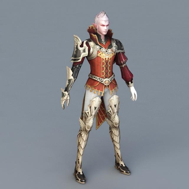 Male Elf Wizard 3d model