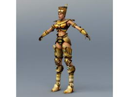 Egypt Female Warrior Rigged 3d model