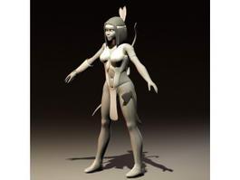 Ancient Mayan Woman 3d model