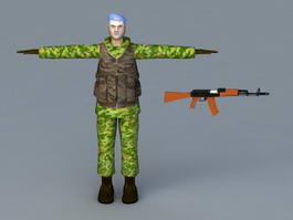 Russian VDV Special Forces 3d model
