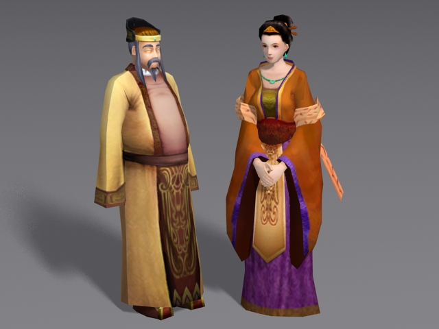 Historical Chinese Couple 3d model