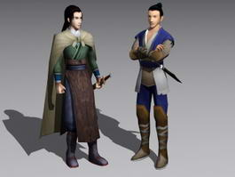 Chinese Swordsman 3d model