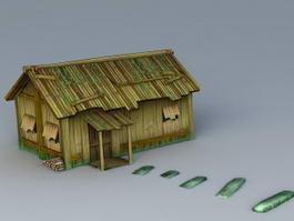 Old Abandoned Cabin 3d model
