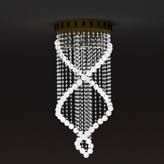 Spiral Crystal Chandelier 3d model 3ds Max files free download ...