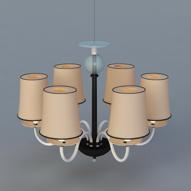 Modern Tiered Chandelier with Shades 3d model 3ds Max files free ...