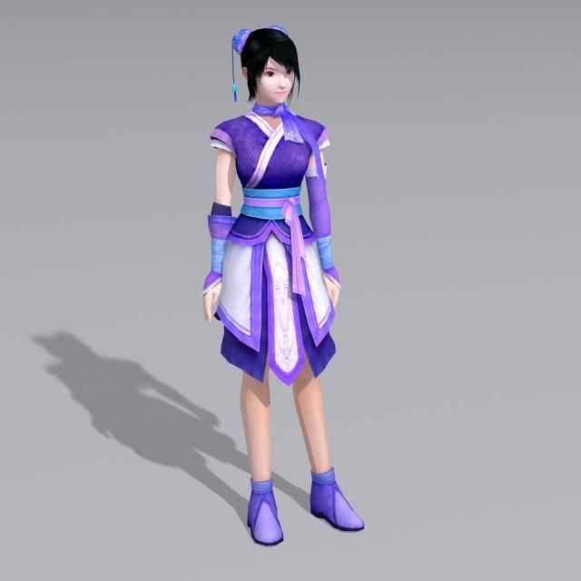 Chinese Zodiac Anime Girl 3d model