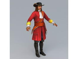 18th Century Dragoon 3d model