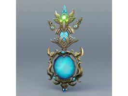 Ancient Magical Mirror 3d model