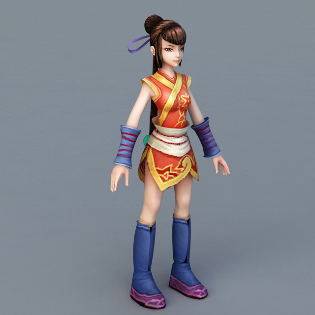 Chinese Martial Arts Anime Girl 3d model