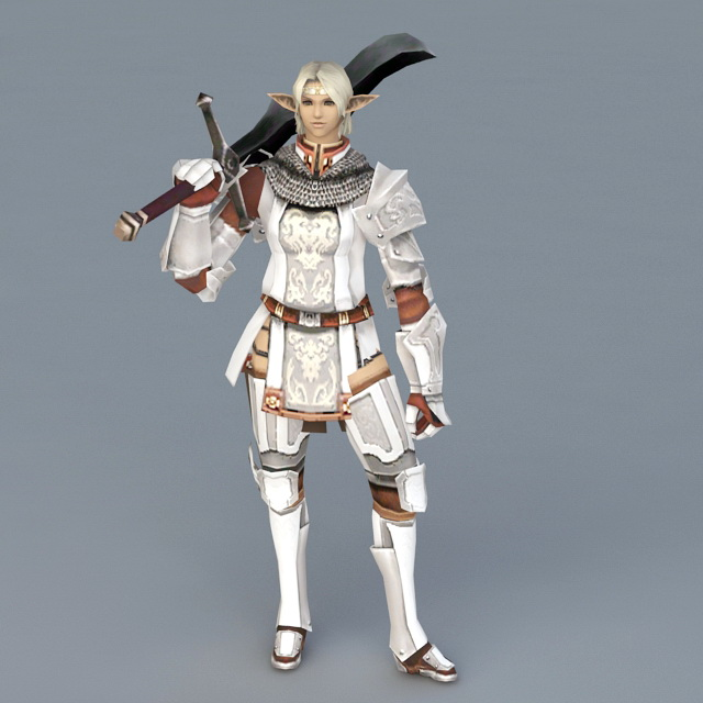 High Elf Knight 3d model