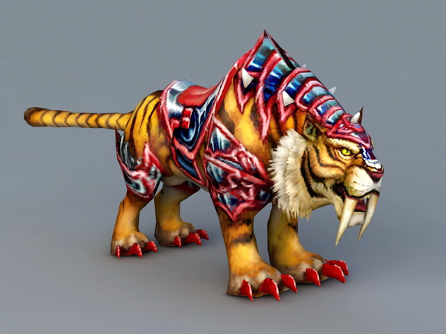 armored mount tiger 3d model 3ds max files free download