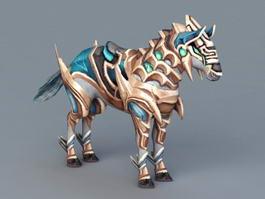 Armored War Horse 3d model