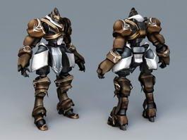 Futuristic Robot Warrior 3d model