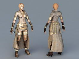Female Mage Concept Art 3d model