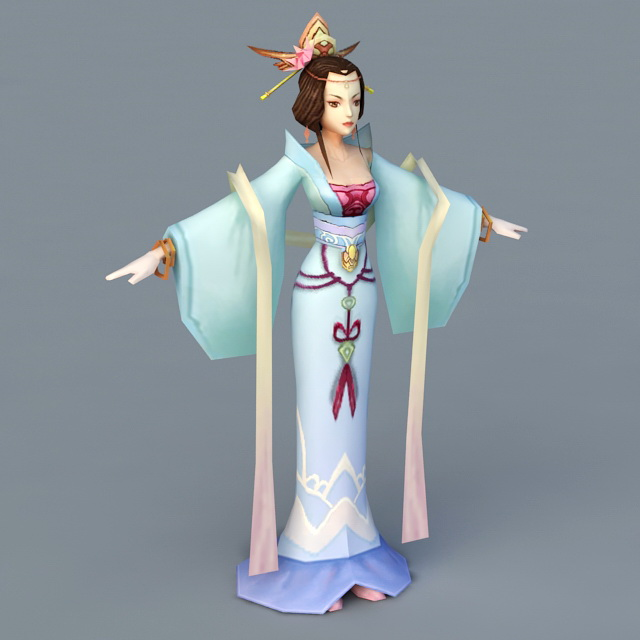 Tang Dynasty Dancer Woman 3d model