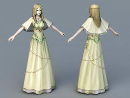 Young Medieval Princess 3d model