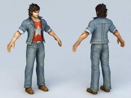 Street Fighter Guy 3d model