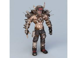 Steampunk Humanoid Monster 3d model
