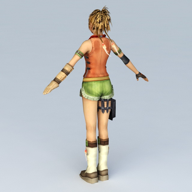 Final Fantasy Female Character 3d model Object files free