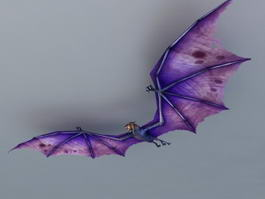 Giant Bat Purple 3d model
