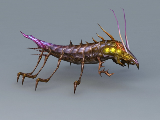 Earwig Bug 3d model